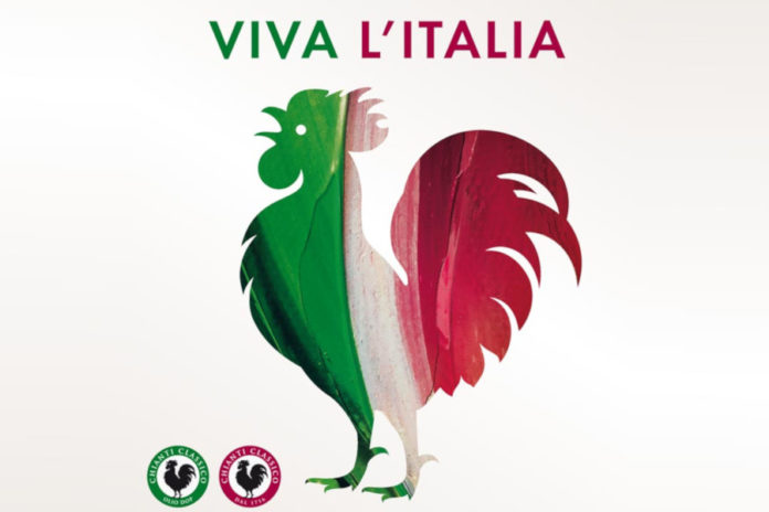 Gallo Nero Tricolore Consorzio Chianti Classico welcomes the reopening of Italian restaurants and wine bars with a solidarity message addressed to a key sector for Chianti wines. To accompany this message of good wishes the historian Gallo Nero, painted with the colors of the national flag.